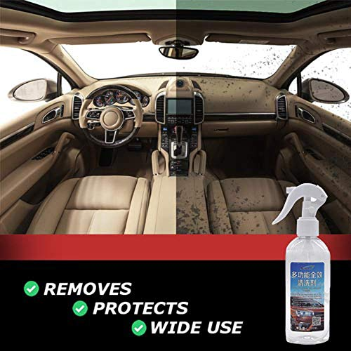 Hohaski Car Cleaning Agent, New Multi-Functional Car Interior Agent Universal Auto Car Cleaning Agent, Multifunctional Leather Refurbishing Agent Cleaner Repair Tool 200ML (Agent Car)