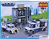 Cogo Toys Police Action Building Blocks - Small Blocks, Big Features, Construction Toys For Kids, Children (Assorted)