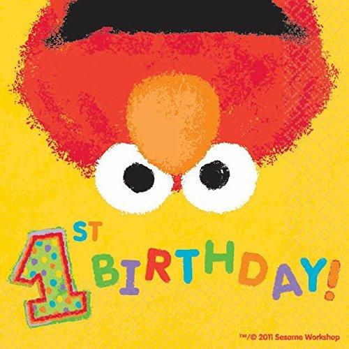 Elmo's 1st Birthday Beverage Napkins ()