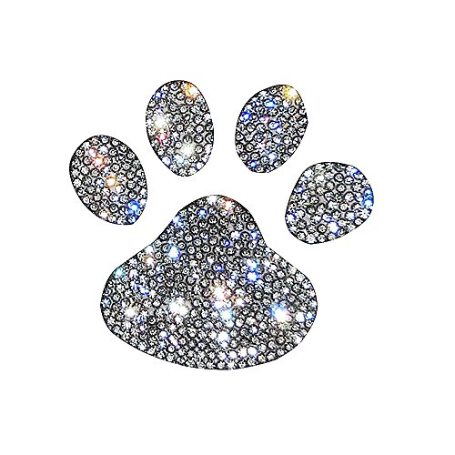 Ling's boutique(TM)Various Patterns Of Crystal Car Stickers,Decorate Cars Bumper Window Laptops Luggage Rhinestone Sticker,white (Mini footprint) (Decorative Stickers Car Sticker)