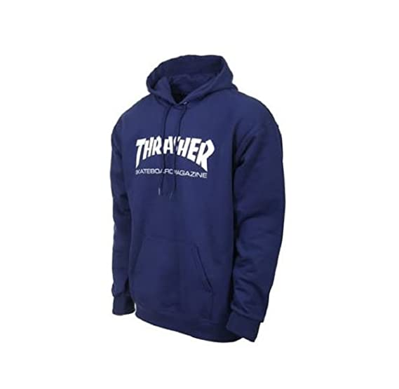 31360b3cdd04 Image Unavailable. Image not available for. Color: Thrasher Skate Mag Hoodie,  Navy ...