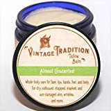 "Vintage Tradition Almost Unscented Tallow Balm, 100% Grass-Fed, 2 Fl Oz ""The Whole Food of Skin Care"""