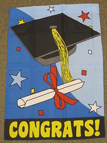 2'X3' Congrats! Garden Flag Graduation Cap And Gown Congr...