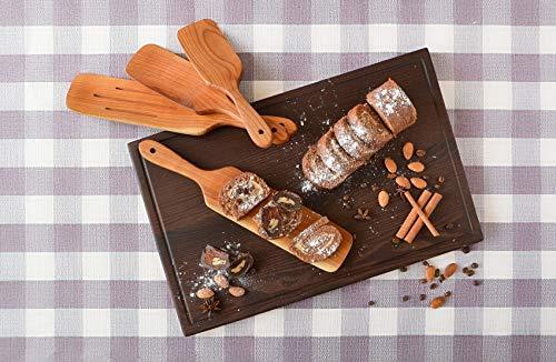 Handmade Utensil Set of 4 Wooden Kitchen Utensils Spatula Cherry Wood Spurtle Kitchen Supplies by MyFancyCraft (Image #8)