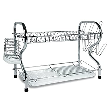 Better Chef 2-tier Chrome R-shaped Dishrack, 17  L