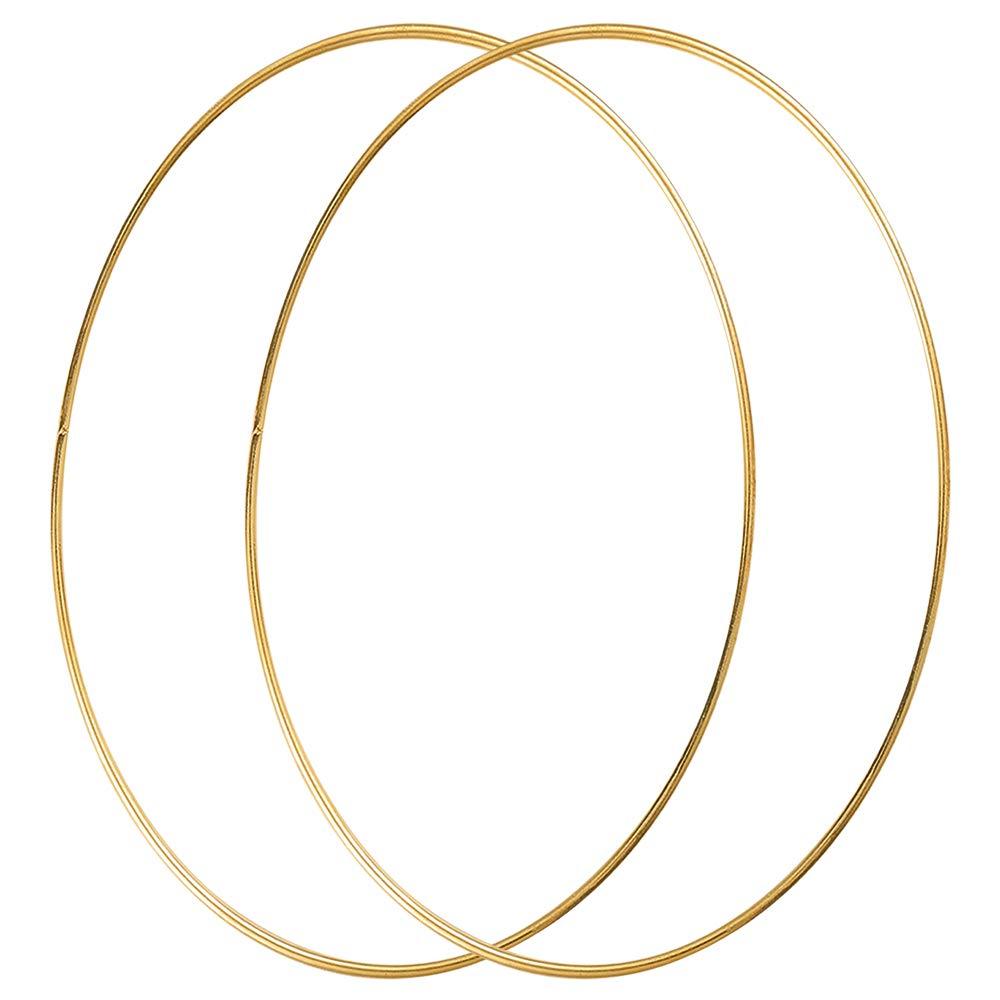 Floral Hoop Kranz Hochzeit Dekor und DIY Handwerk Basteln Sntieecr 2 St/ück 35cm Gold Metallring Makramee Ringe Floral Hoops Ringe Kranz f/ür Traumf/änger