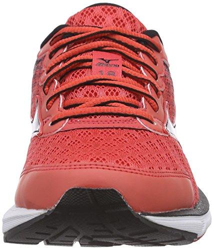 Mizuno Wave Rider 18 - Zapatillas de running Mujer Rojo - Rot (Cayenne/Silver/Black 05)