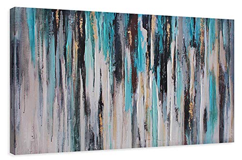 Large Abstract Canvas Wall Art Decor Modern Artwork Cinerous Themed Picture Oil Painting for Bedroom Living Room Bathroom Office Home Decoration