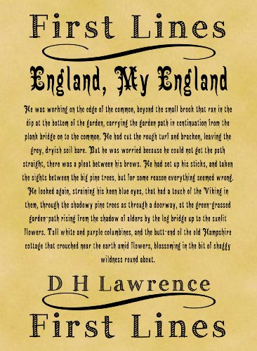 A4 Size Parchment Poster Literary First Lines D H Lawrence England My England