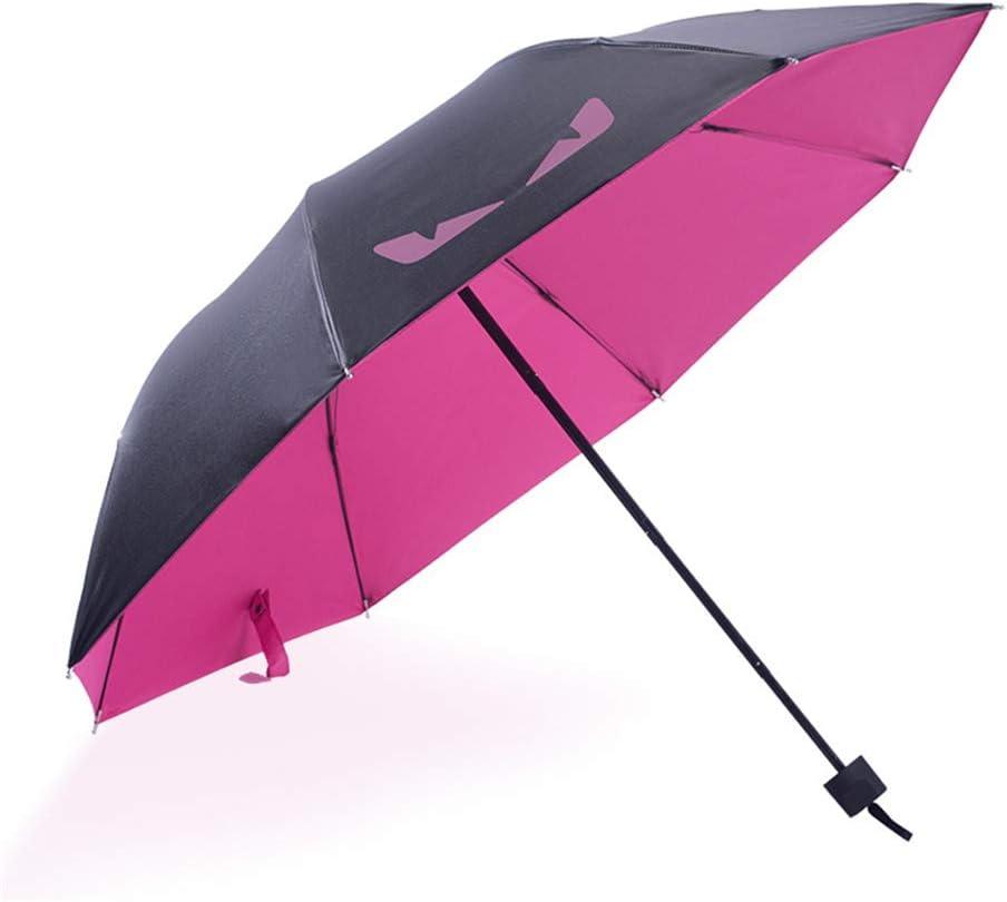 Comeyang Mini sombrilla, Paraguas de Viaje portátil, protección UV, Actividades al Aire Libre,Protector Solar Plegable Vinilo Diablo sombrillas color12 98cm: Amazon.es: Hogar