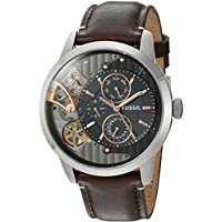 Mens ME1163 Townsman Twist Multifunction Dark Brown Leather Watch