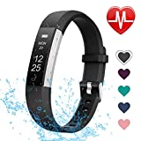 LETSCOM Fitness Tracker with Heart Rate Monitor, Slim and Smart Activity Tracker Watch with Sleep Monitor, Step Counter and Calorie Counter, IP67 Waterproof Pedometer Watch for Kids Women Men