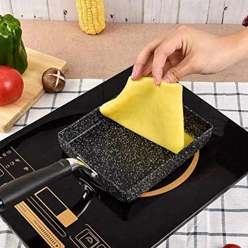 Poêle Griller Antiadhésive Carré, Grill À Steak BBQ, Casseroles Poêle Manche Amovible