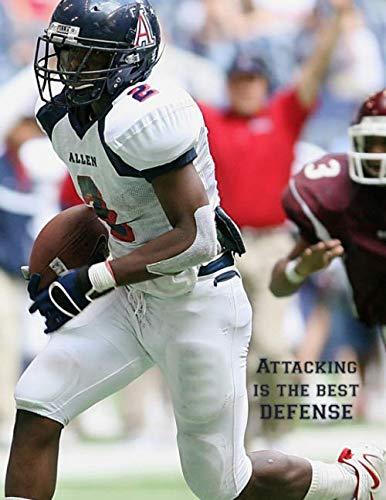 Attacking Is The Best Defense: 2019-2020 Youth Coaching Notebook | Blank Football Field Pages | Calendar | Game Statistics | Roster (Best Youth Football Defense)