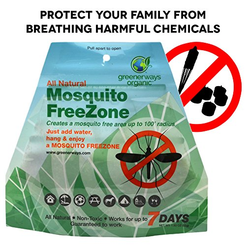 GREENERWAYS ORGANIC Mosquito Repellent Zone - Non-Toxic Organic Insect Repellent All Natural Outdoor Mosquito Pest Control, Bug-Free 24/7 Up to 100 FT Radius, DEET-FREE safe for Kids, Babies, Dogs