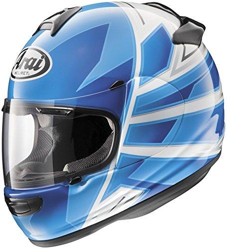 [Arai Helmets Vector 2 Hawk Helmet, Distinct Name: Hawk Blue, Gender: Mens/Unisex, Helmet Category: Street, Helmet Type: Full-face Helmets, Primary Color: Blue, Size: Lg 814433] (Arai Vector Full Face Helmet)