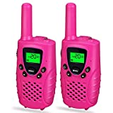 Long Range Two-Way Radios for Adult Teen, Cooco Long Range Two-Way Radios for Girls Toys Age 3-12 for 3-12 Year Old Girls Birthday Presents Pink CCUSWT06