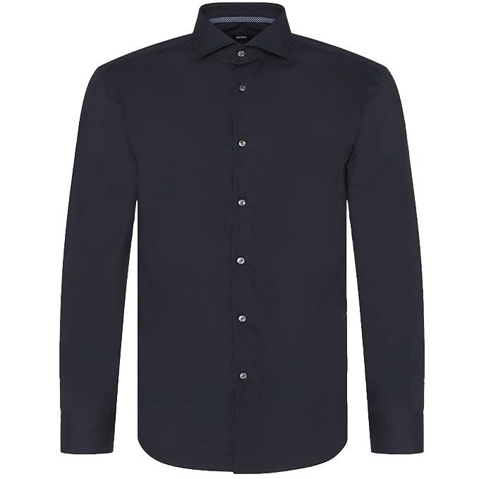 Hugo Boss Black - Camisa casual - para hombre, azul (azul), 40: Amazon.es: Zapatos y complementos
