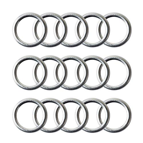 15 Pack M14 Aluminum Crush Washer Oil Drain Plug Gasket Aftermarket Part Fits In Place of Audi S4 A4 Q5 VW Touareg CC Oil Victor Reinz N0138157
