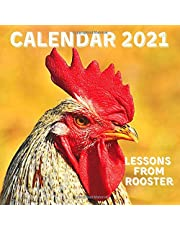 Lessons From Rooster Calendar 2021: November 2020 - December 2021 Square Photo Book Monthly Planner Calendar With Rooster Inspirational Quotes