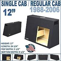 12 Single ported Regular cab / single cab sub woofer speaker box