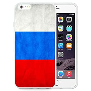 Fashionable Custom Designed iPhone 6 Plus 5.5 Inch Phone Case With Russia Flag_White Phone Case