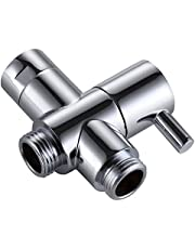 "KES PV4 BRASS 3-Way Diverter Valve 3/4"" and 1/2"" IPS Shower System Replacement Part, Polished Chrome"