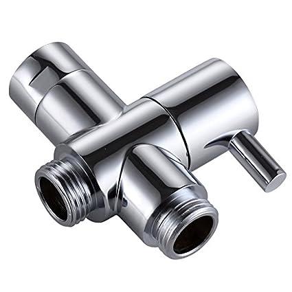 KES BRASS Shower Arm Diverter Valve Bathroom Universal Shower System  Component Replacement Part For Hand Held