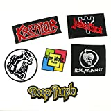 "Lot of 6 (5+1) ""Deep Purple"" ""Kreator"" ""Rise Against"" ""Judas Priest"" Band Heavy Metal Rock Punk Music Logo Embroidered Iron / Sew On Patch"