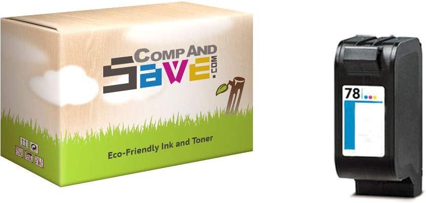 CompAndSave Replacement for HP OfficeJet k80 Printer Inkjet Cartridge HP 78 C6578D Color Ink Cartridge