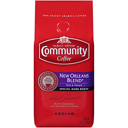 Community Coffee Premium Ground New Orleans Blend, Special Dark Roast, 12 Ounce