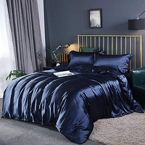 Dacris Comforter Set Twin Full Queen King Size Navy Blue 4 Piece Bed Sets C Ultra Soft Microfiber Teen Bedding For Girls Bedroom Amazon Co Uk Kitchen Home