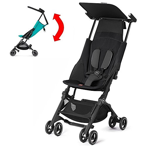 GB Pockit PLUS Stroller 2017 / multi-adjustable backrest / Light Traveler / from 6 Mo.-4Y. Monument Black by GB