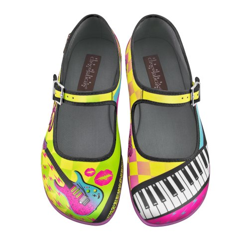 Hot Chocolate Design Chocolaticas New Wave Womens Mary Jane Flat Multicoloured 1dy4vL0A