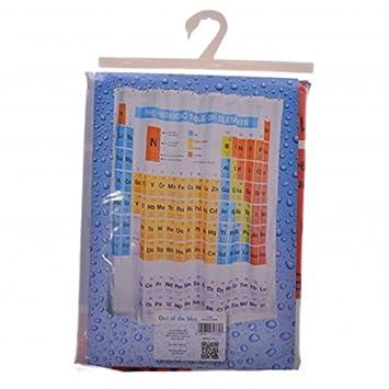 Periodic Table Shower Curtain Elements Chemistry Bath Curtain Bath ...