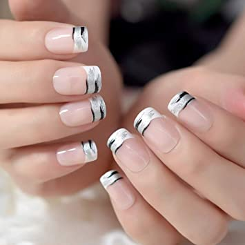 Amazon.com  24Pcs Classical Light Pink French Nail Pointed