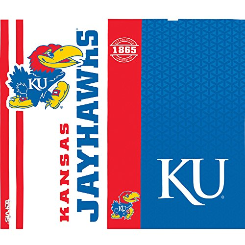 Tervis 1220737 Kansas Jayhawks College Pride Tumbler with Wrap and Blue with Gray Lid 24oz Water Bottle, Clear by Tervis (Image #1)
