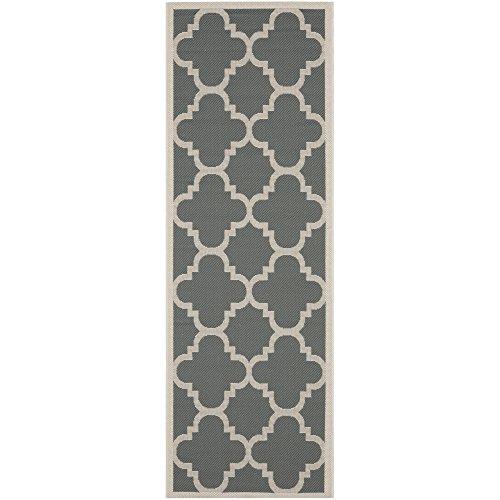 Safavieh Courtyard Collection CY6243-246 Grey and Beige Indoor/ Outdoor Runner (2'3