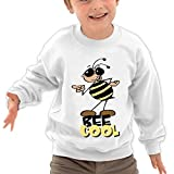 Puppylol Bee Cool Kids Classic Crew-neck Pullover Hoodie White