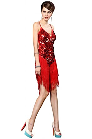 Sexy One Shoulder brillante acabado de volantes falda baile latino/salón de baile