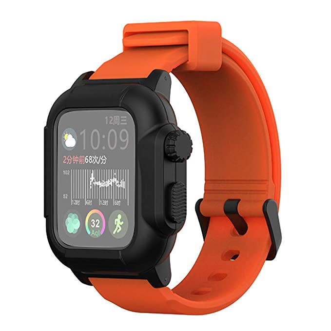 44mm Wrist Bracelet + Case, HoHo Soft Silicone Sport Wristband with Apple Watch Screen Protector for Apple Watch Series 4