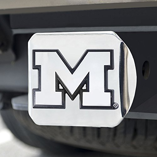 FANMATS  14996  NCAA University of Michigan Wolverines Chrome Hitch Cover ()
