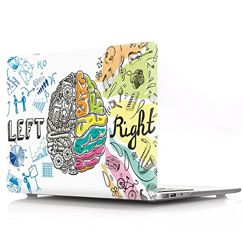 HRH Intelligent Left and Right Brain Laptop Body Shell Protective Hard Case for Apple Macbook Air 11