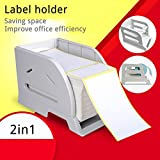 Label Holder for Rolls and Fan-Fold Labels bracket Plastic Label Paper Holder of Thermal Bar code Sticker Label Printer for Delivery, Supermarket, Pharmacy Store (2in1 Holder B)