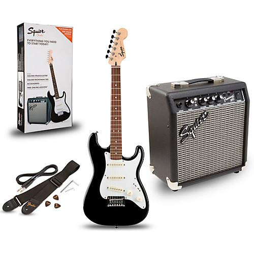 Strat Pack SSS Electric Guitar with Fender Frontman 10G Combo Amplifier