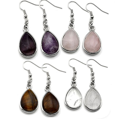 Top Plaza Healing Waterdrop Earrings
