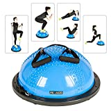 PEXMOR Yoga Half Ball Balance Trainer Exercise Ball Resistance Band Two Pump Home Gym Core Training...