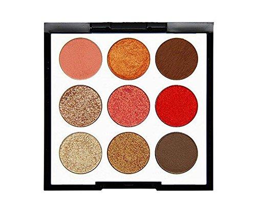 Enking 9 Colors Warm Color Eyeshadow Palette Makeup Matte Ef