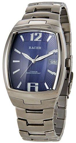 M13707-3 Reloj Racer Hombre, analógico, caja y brazalete de titanium, garantía 2 años.: Amazon.es: Relojes