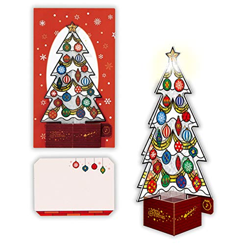 Stained Glass Christmas Tree Lights and Melody Pop Up Card/Christmas Card